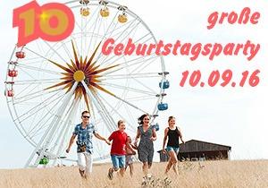 10 Jahre Sonnenlandpark - Geburtstagsparty am 10.09.2016