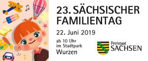 Banner für den Familientag Sachsen 2019