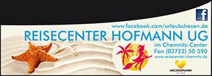 Banner des Reisecenters Hofmann aus Chemnitz