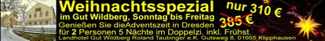Banner mit Weihnachtsangebot von Gut Wildberg